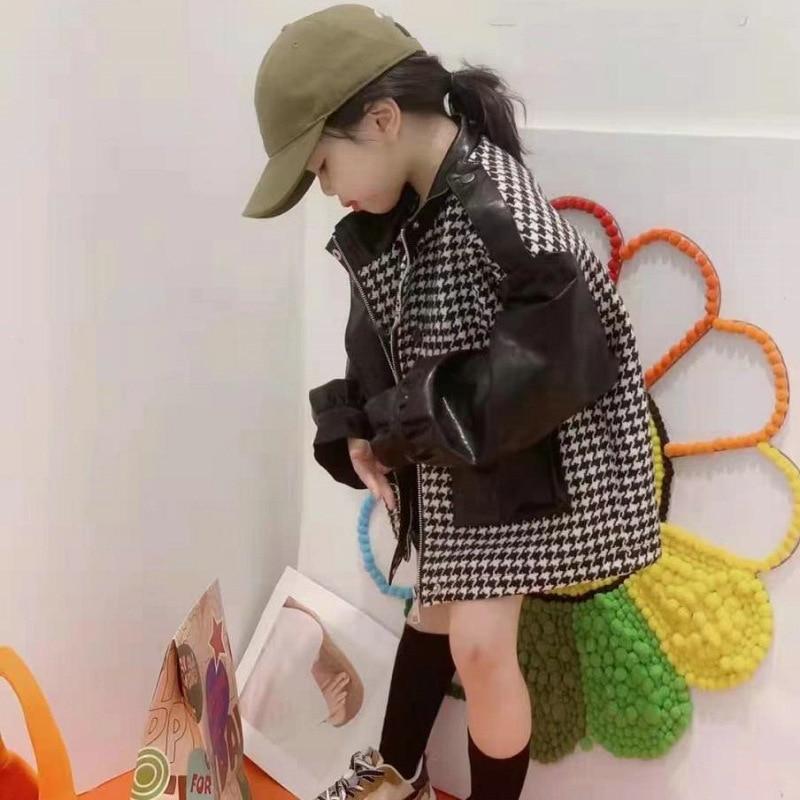 WLG الفتيات ملابس الشتاء الاطفال بولي Patchwork خليط المخملية معاطف سميكة طفلة الدافئة موضة ملابس خارجية لمدة 2-6 سنوات