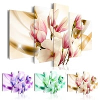 Magnolia toile peinture decor a la maison 5 piece mur Art modulaire fleur photo affiches et impressions chambre salon cadeaux de mode
