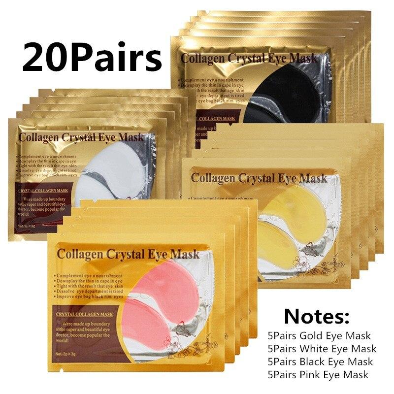 AliExpress - 20Pairs Gold Collagen Crystal Eye Mask Anti Wrinkle Eye Patches Moisturizing Nourishing Anti Aging Eye Care Combination