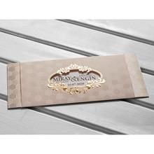Laser Cut Luxury Wedding Invitations Cards Elegant Wedding Bridal Shower Gift Greeting Card Kits kod:10522