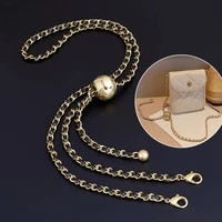 thin purse chain strap adjustable replacement for small shoulder crossbody bag 51 inches long golden bead ball bag chain