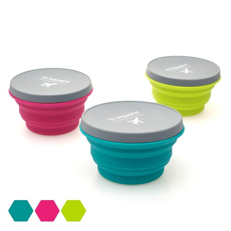 Nuevo tazón plegable portátil de silicona de grado alimenticio, cuenco plegable telescópico para ensaladas, Bol bento para comida de cocina, vajilla, cuenco para adultos