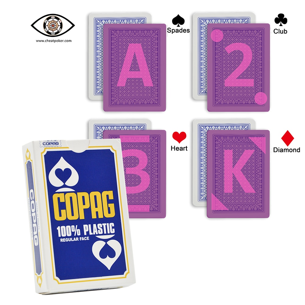 Copag Anti Cheat Poker Marked Playing Cards for Contact Lenses Bridge Size Regular Face Plastic Magic Deck Board Game