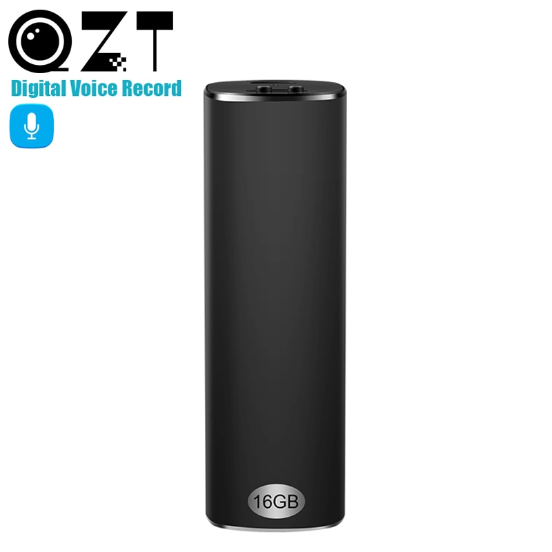 Mini grabadora de voz de 16GB 300 horas de grabación magnética Digital HD dictáfono reproductor MP3 Denoise de larga distancia