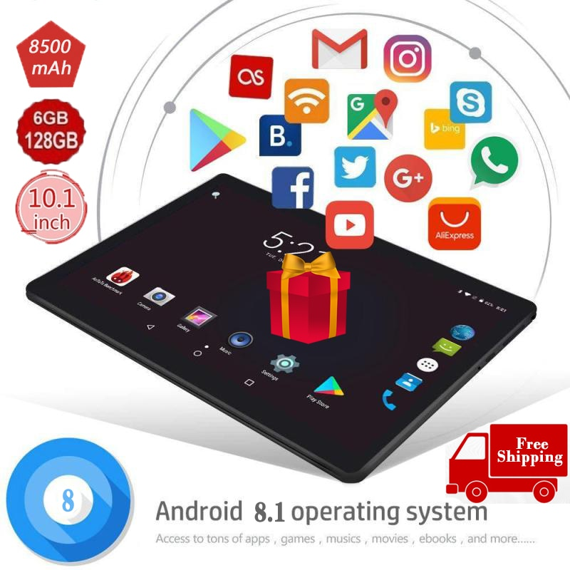 Android 9.0Tablet 10.1 Inch Ten-core Screen Bluetooth 4G WiFi  Network Tablet PC Gifts Dual SIM Dual Cameras Free Shipping