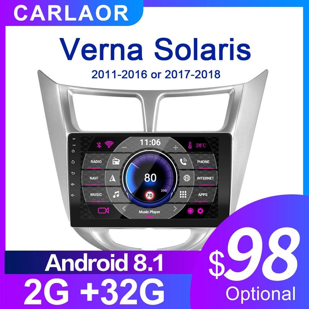 Para solaris 1 2 hyundai accent verna 2g + 32g rádio do carro 2 din android 8.1 vídeo player multimídia navegação gps wifi 2011-2018