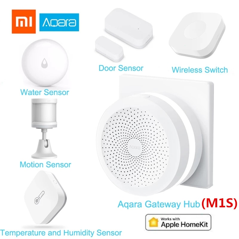 Xiaomi Aqara Smart Home Kits Gateway 3 Aqara Hub Window Door Sensor Human Body Wireless Switch Temperature Humidity Water Sensor