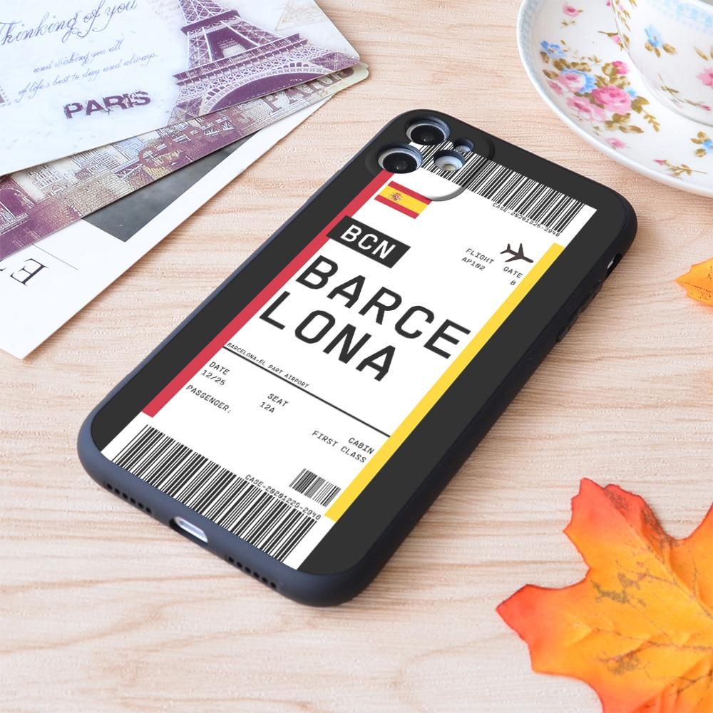 Funda de viaje con estampado de Apple para iPhone, funda de viaje...