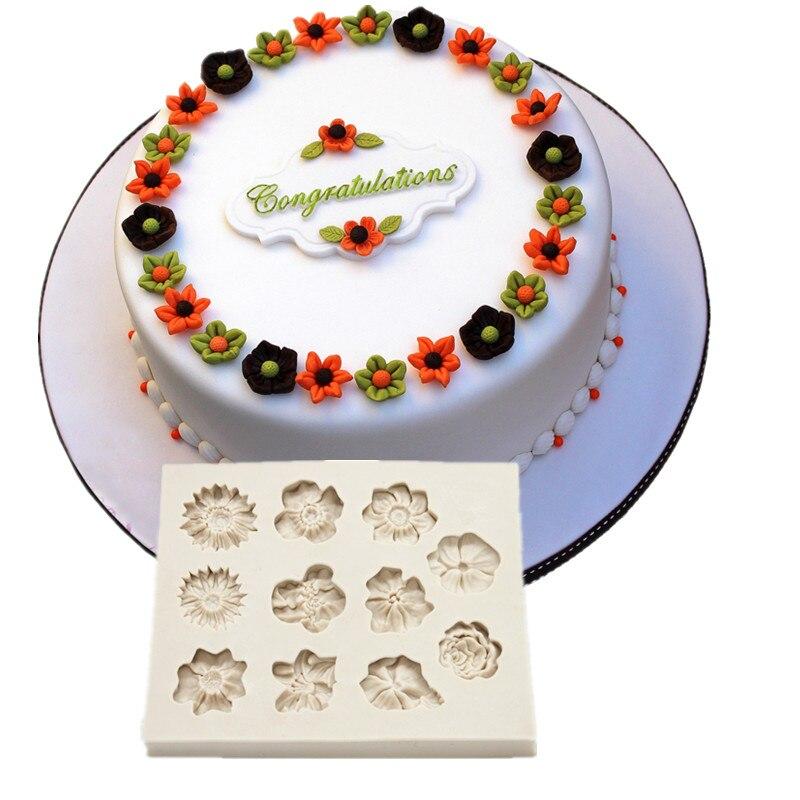 Цветочная кружевная форма для торта, искусственная форма для украшения тортов, инструменты для украшения тортов