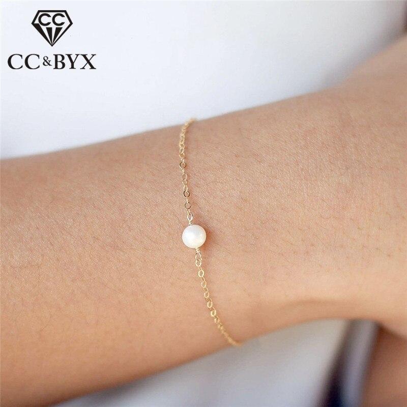 Pulseras de plata pura CC 925 para mujer, perlas de agua dulce, pulsera ajustable, joyería de moda, bisutería de diseño Simple CCB056
