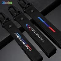 lastest design nylon m power performance car key chain for bmw m m3 m5 1 2 3 4 5 6 7 series e30 e34 e36 e39 e46 e60 e90 e87