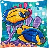 fish cushion latch hook kit pillow mat diy craft 42cm 42cm cross stitch needlework crocheting cushion embroidery