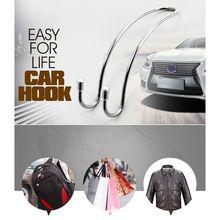 Car Clips Automotive Metal Seat Hook Auto Headrest Hanger Bag Holder for storage Auto Fastener 1XCF