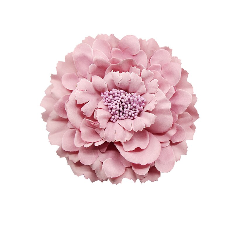 2020 Trendy Fabric Blooming peony Flower Corsage Brooch woman Hair Decorations & Brooch wedding part