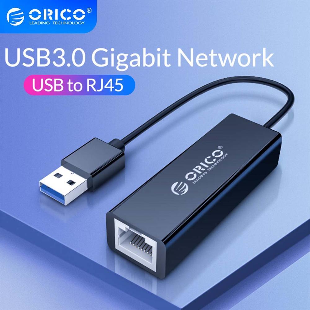 ORICO USB 3.0 Gigabit Ethernet Adapter USB to RJ45 10M/100/1000M Lan Network Card for Windows 10 8 8.1 7 XP Mac OS usb lan
