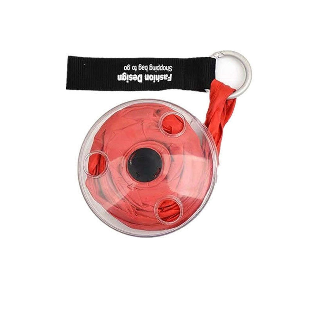 Multifuncional plegable retráctil portátil Shopping Bags bolsillo Saucer Shopping Bag Nylon Material