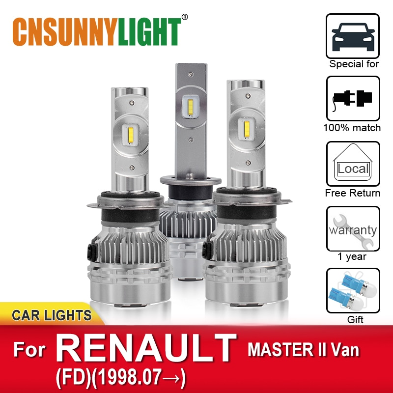 CNSUNNYLIGHT bombillas LED para automóviles para RENAULT MASTER II Van FD de 1998 bombillas de niebla faros Canbus faros LED de coche