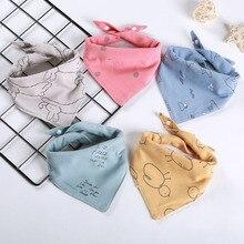 New Style Baby Bibs Drooling Cotton 5 pieces/lot Baby Scarf Burp Cloth Bandana Bibs Newborn Baby Boy Infant Girl Toddler Stuff