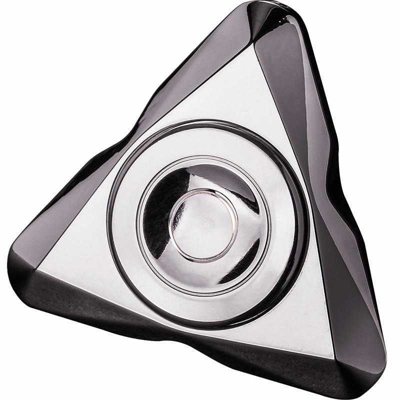 Arctic Craftsman Stainless steel fingertip gyro British triangle Finger spiral edc shake metal toys figet spinner spinner ring enlarge