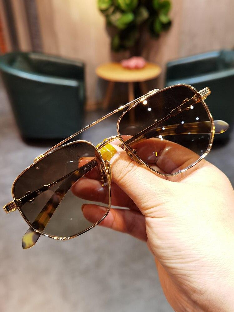 جيدان واقية من الإشعاع نظارات شمسية نظارات شمسية كلاسيكية للرجال والنساء القيادة النظارات الشمسية وجه كبير مزدوج شعاع الطيار نظارات