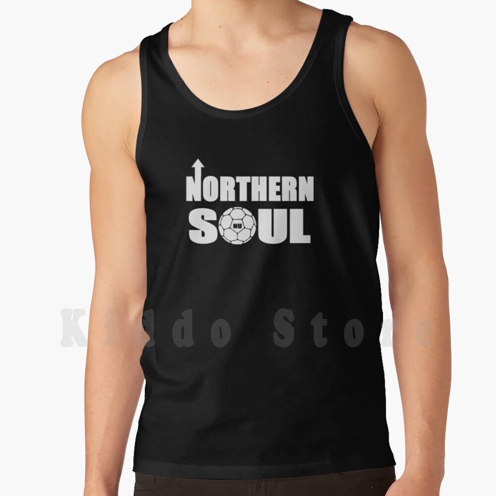 Northern Soul Tank Tops Vest 100% Cotton Football Soccer Ultras Retro Magpies Geordies Bobby Robson