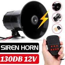 Klaxon sonore 400W voiture   7 sons, moto, véhicule, camion, haut-parleur, alarme, Polices, feux, Ambulance, haut-parleur