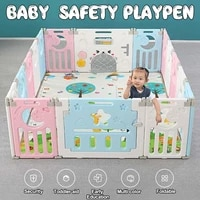 foldable baby fence indoor playground park kids safety guardrail children babies playpen game crawling fencing play yard