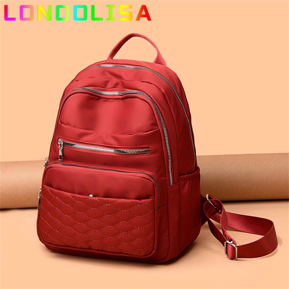 حقيبة السفر النسائية الموضة نمط جميلة الفتيات المدرسية حقيبة يد لينة الإناث عالية الجودة أكسفورد متعددة جيوب Bookbag