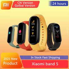 Смарт-браслет Xiaomi Mi Band 5, сенсорный экран 1,1 дюйма, фитнес-трекер, Bluetooth, водонепроницаемый смарт-браслет, глобальная версия