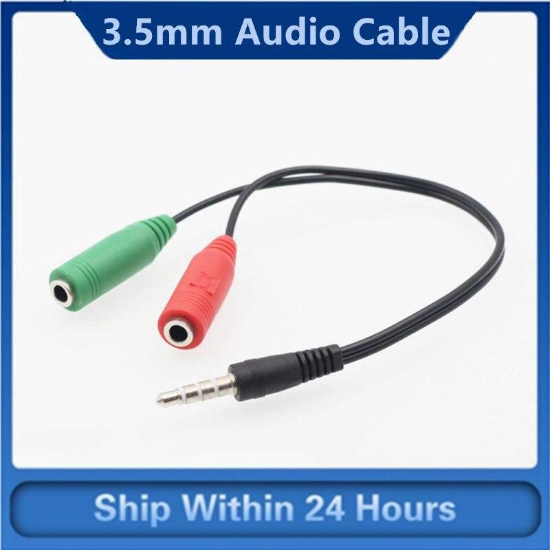 Adaptador de Cable divisor de Audio estéreo para IPhone, IPod, IPad, 1...