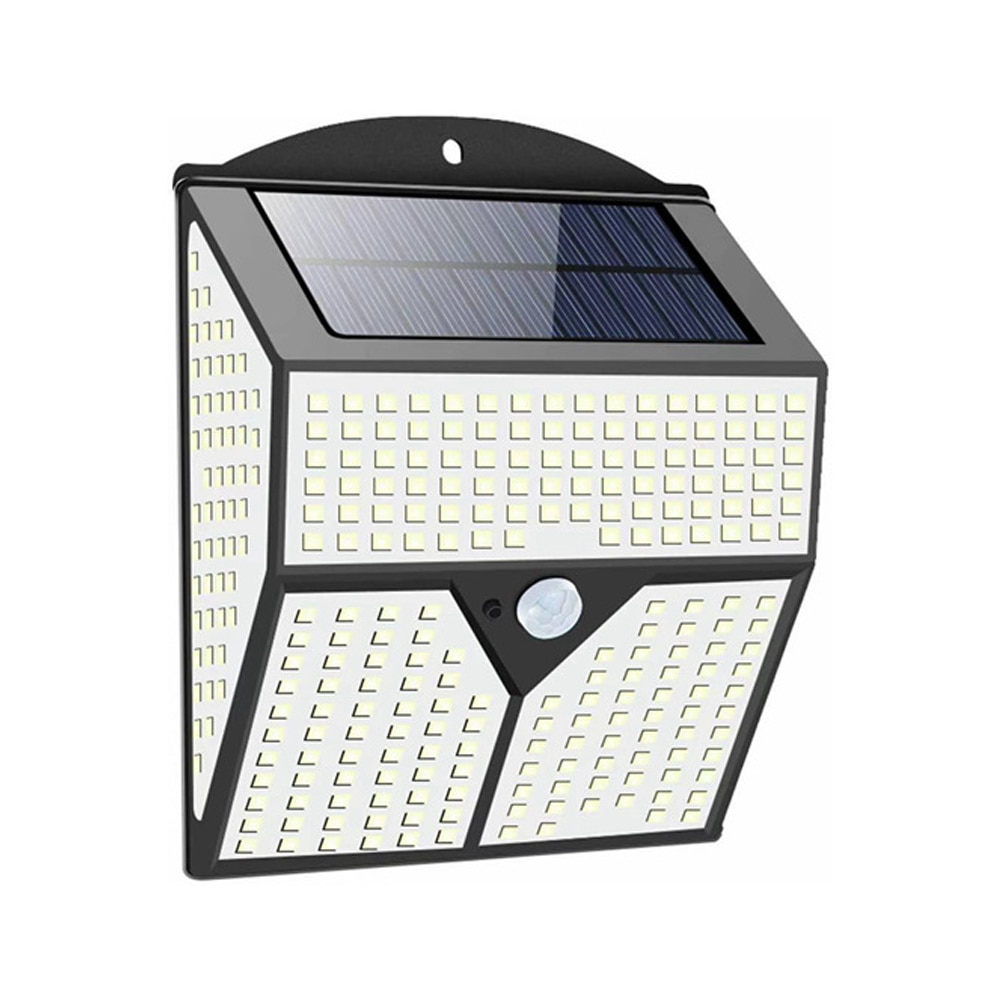 2. Luz Solar LED impermeable para exteriores. Lámpara Solar con Sensor de movimiento, 436 LED
