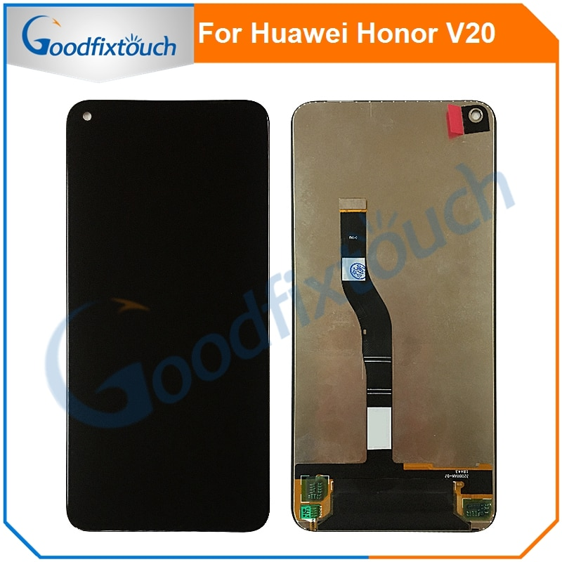 10 قطعة شاشة LCD لهواوي الشرف عرض 20 V20 LCD عرض تعمل باللمس محول الأرقام الجمعية الخارجي زجاج لوحة لإصلاح الشرف V20