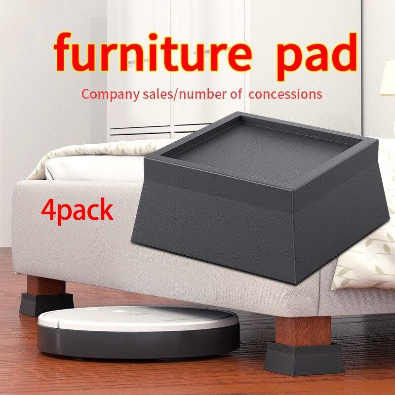 GTBL 4 حزمة مربع السرير والأثاث الناهضون تكويم الثقيلة المضادة للانزلاق زيادة قاعدة يناسب جميع أنواع المكاتب ، الأرائك ، الأرائك