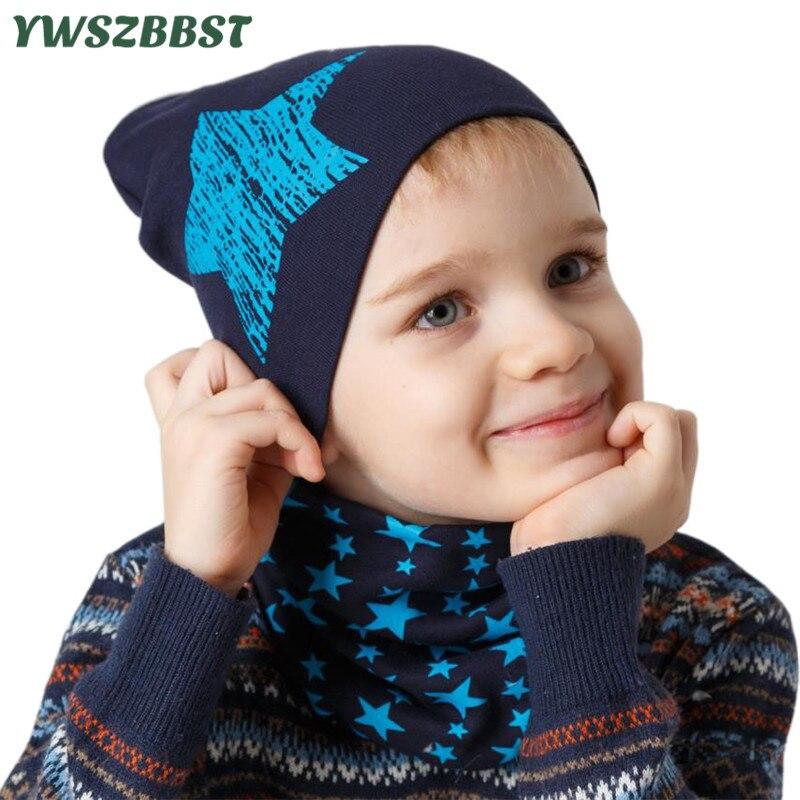Nuevos sombreros para niño o niña de algodón para otoño e invierno, gorro cálido, bufanda, gorros infantiles, conjunto de gorros para bebés, gorra tejida para niños, gorro de primavera para bebés