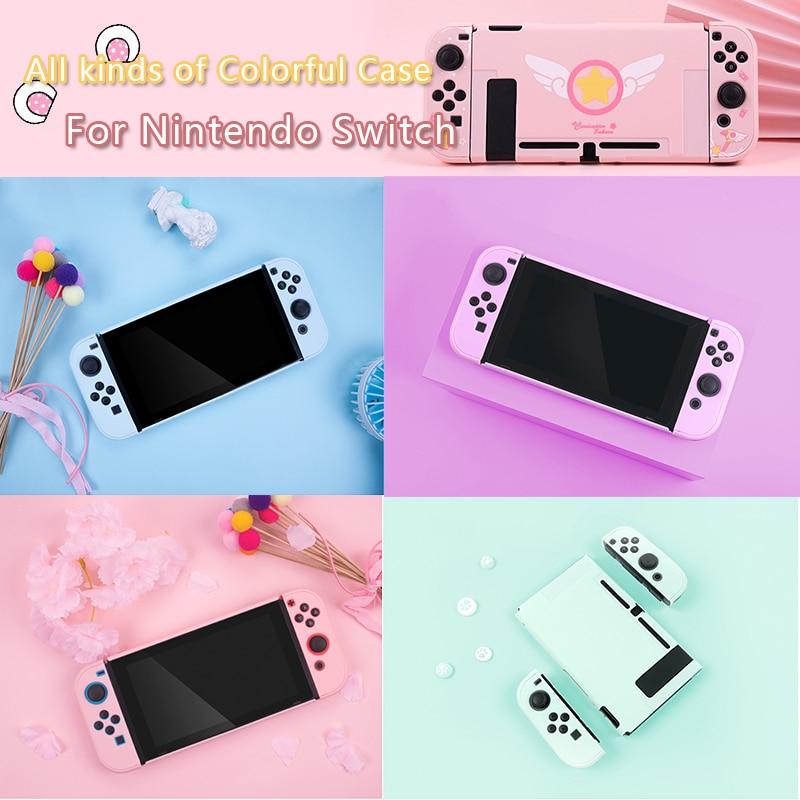 Para Nintendo Switch Joy Con L R funda protectora Nintend Switch NS NX Console contraportada carcasa Accesorios de control