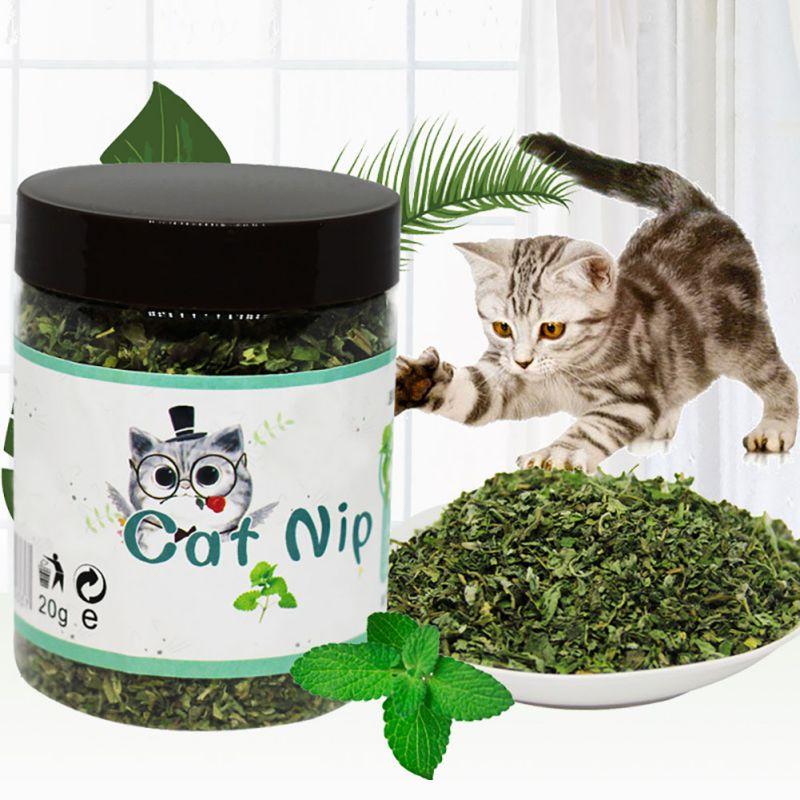 Органический 100% натуральный Премиум кошачья мята крупного рогатого скота трава 10g/20 г/30 г ментоловый аромат и прикольным изображением кошки...