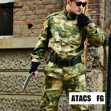 Atacs FG Military Tactical Cargo Pants Uniform Camouflage Tactical Military Combat Uniform Us Army Men Clothing Set