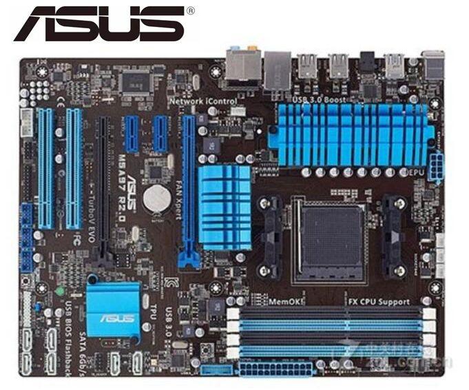 Asus m5a97 r2.0 placa-mãe soquete am3 + ddr3 usb2.0 usb3.0 32 gb 970 placa-mãe de mesa