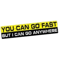 you can go fast i can go anywhere creative vinyl car sticker for suv camper 4x4 wrangler offroad 4wd exterior decor pvc15x3cm