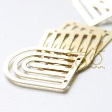 6 stück Laser Cut Solide Raw Messing Charm - U Form 20x25mm (4511C)