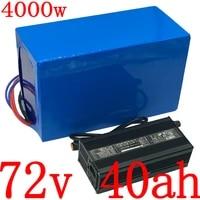 72v ebike battery pack 72v 20ah 25ah 30ah 35ah 40ah electric bike lithium battery for 72v 2000w 2500w 3000w motor 5a charger