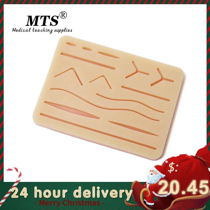 Surgical Skin Suture Practice Silicone Pad with Wound Simulated Module High Quality Equipment