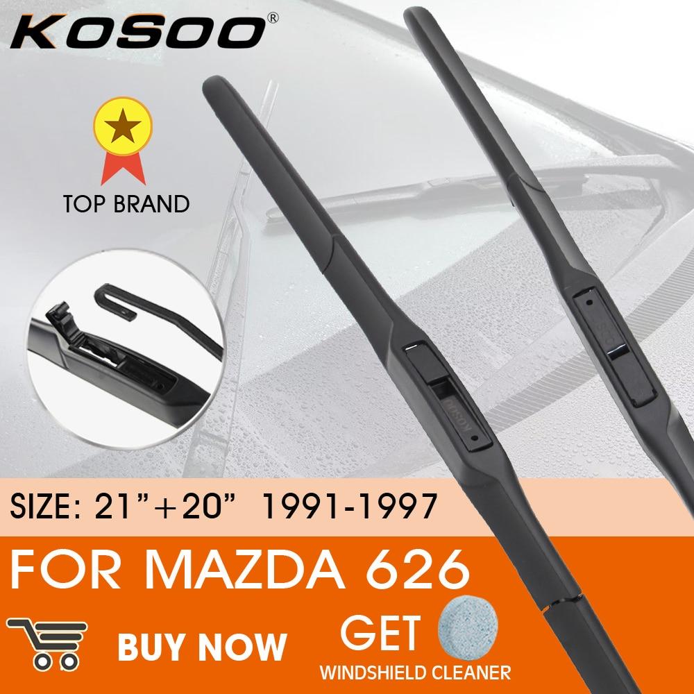 KOSOO escobilla limpiaparabrisas de coche para Mazda 626, 1991-1997 LHD / RHD...