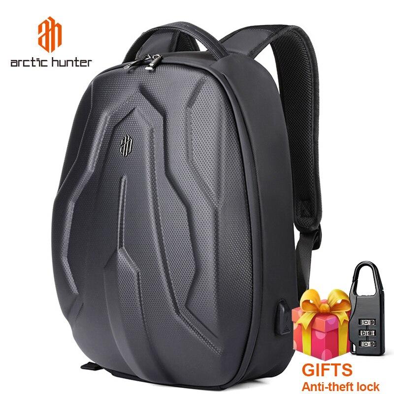 ARCTIC HUNTER 2019, Mochila de concha dura para hombre, a la moda, impermeable, para hombre, con carga USB, mochilas escolares, mochilas de viaje para hombre