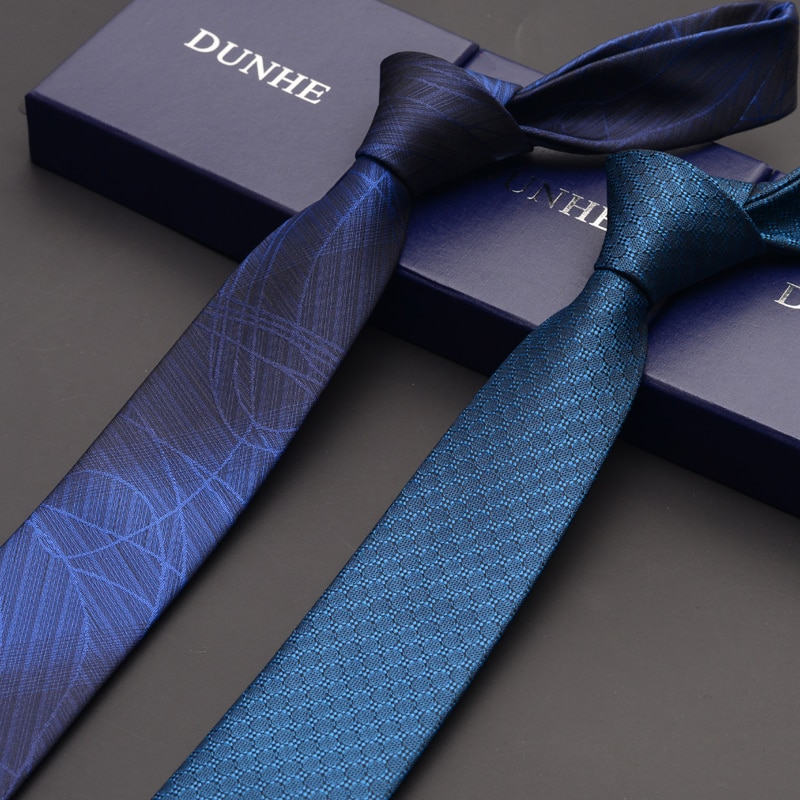 High Quality 2019 Fashion New Formal Wedding Ties for Men Tie slim 6cm Necktie Designers Brand Casual Neck Tie with Gift Box