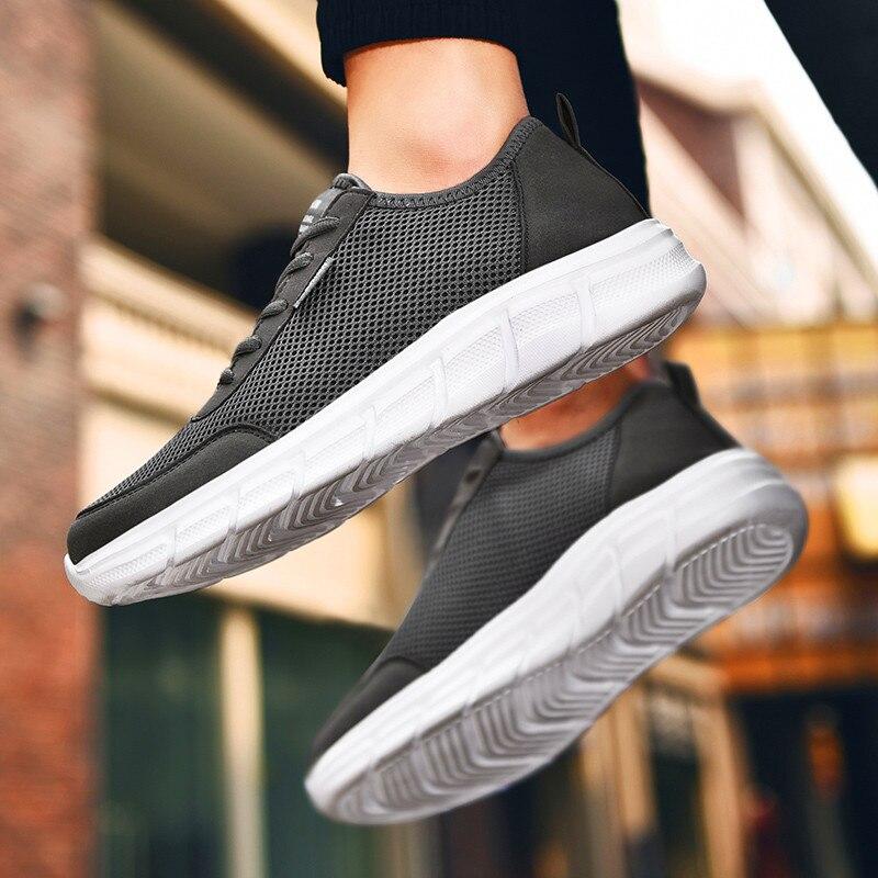 Novo estilo clássico ultraleves net outono sapatos tamanho grande dos homens sapatos casuais sapatos Da Moda Ao Ar Livre Andando Formadores Zapatillas Hombre