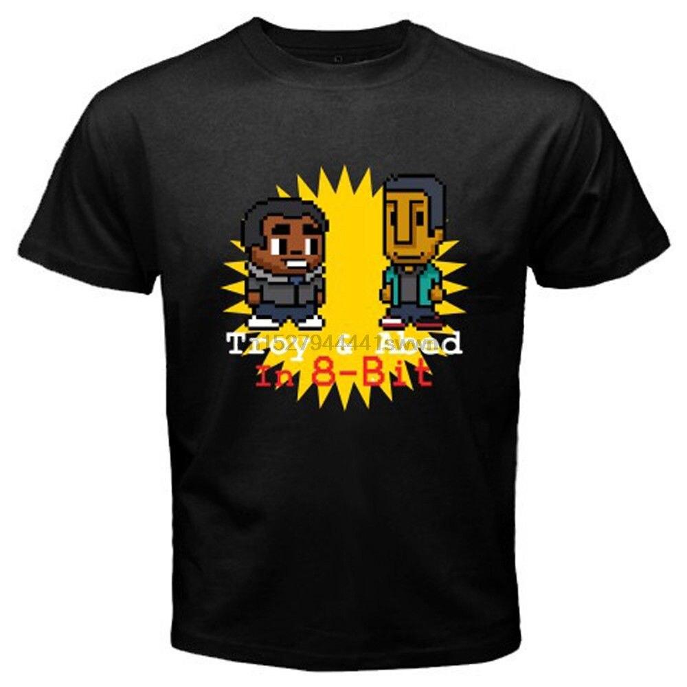 Nueva camiseta negra para hombre de 8 bits en el programa de TV de la mañana de Troya y ABED tamaño S-3XL camiseta de dibujos animados para hombre camiseta Unisex nueva moda