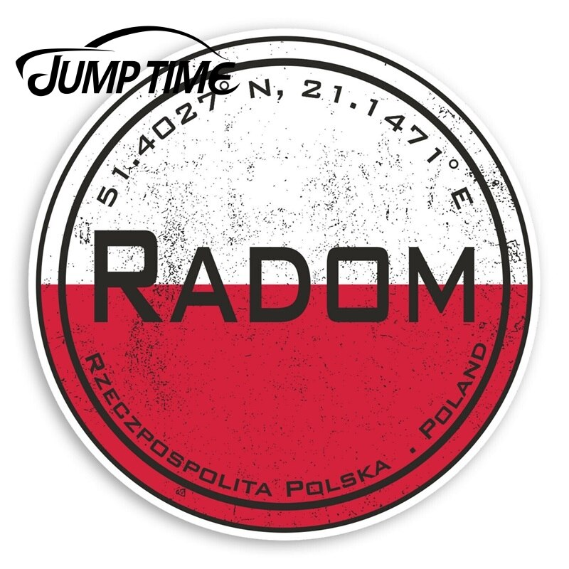 Pegatinas de vinilo de salto de tiempo Radom Polonia-pegatina de viaje de bandera polaco pegatina de parachoques o ventana impermeable accesorios de coche