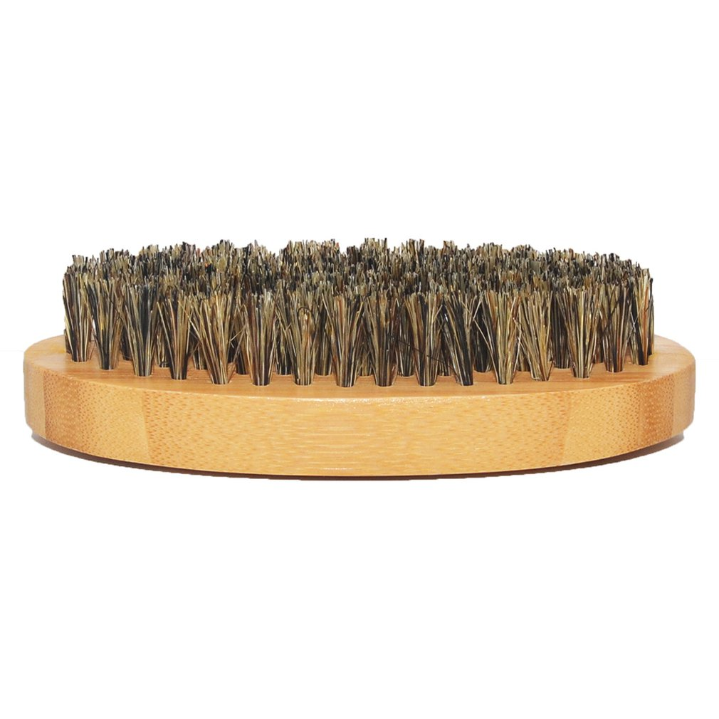 Для мужчин кабана щетина борода щетка для усов твердая круглая деревянная ручка Расческа Щетка для бритья