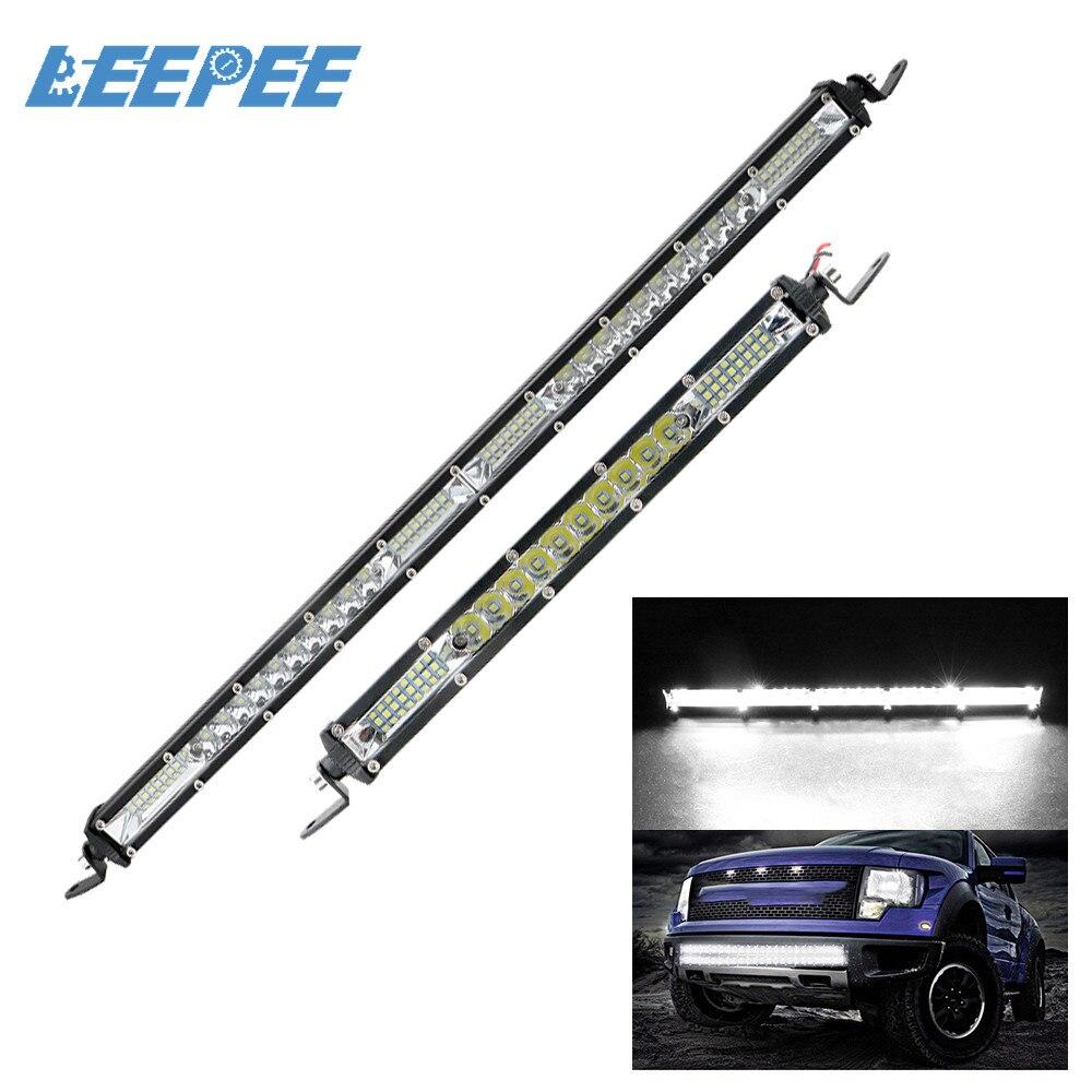 10 20 pouces LED travail inondation conduite lumière voiture barre lumineuse Offroad lampe de travail Super lumineux voiture-style pour Jeep ATV camions tracteur